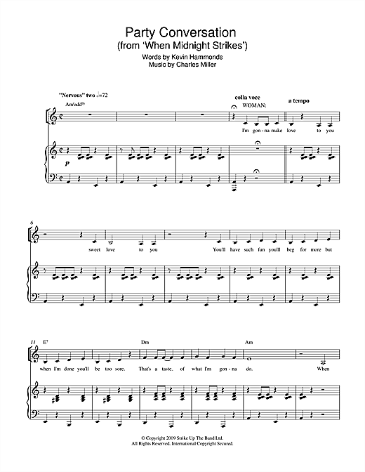 Party Conversation (from When Midnight Strikes) Sheet Music