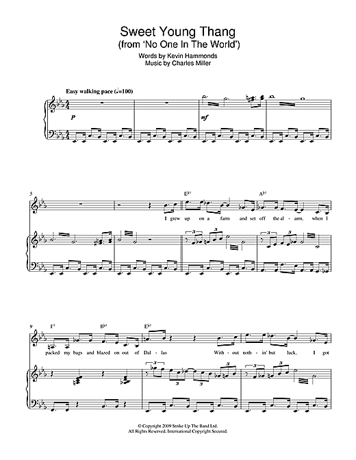 Sweet Young Thang (from No One In The World) Sheet Music