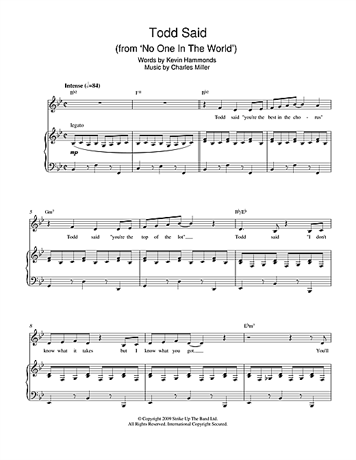 Todd Said (from No One In The World) Sheet Music