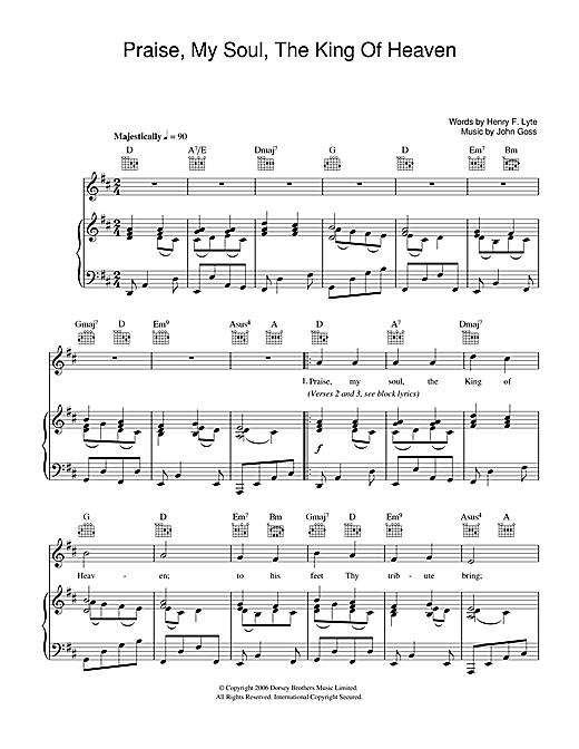 Praise, My Soul, The King Of Heaven Sheet Music