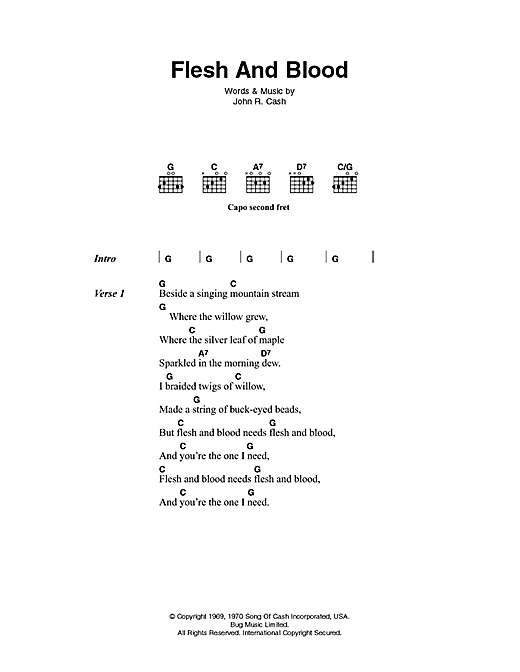 Flesh And Blood Sheet Music