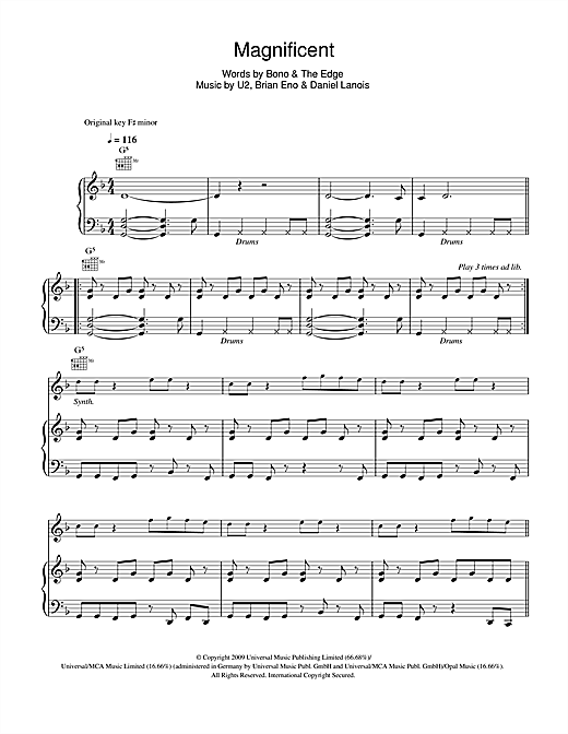 Magnificent Sheet Music