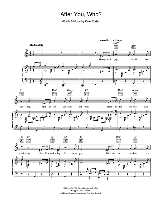 After You, Who? Sheet Music