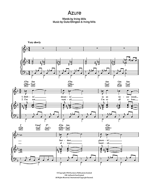 Azure Sheet Music
