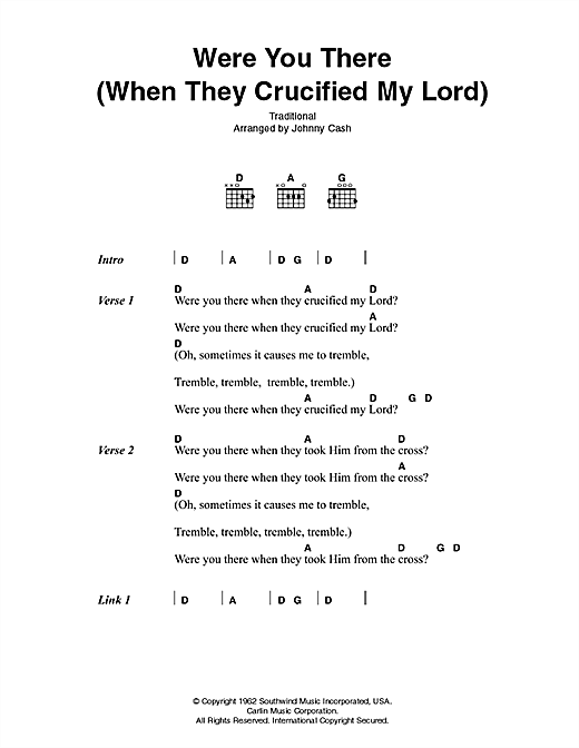 Were You There (When They Crucified My Lord) Sheet Music