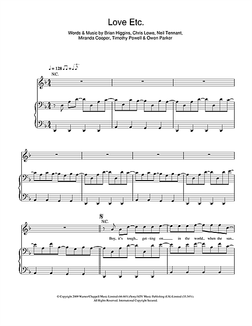 Love Etc. Sheet Music