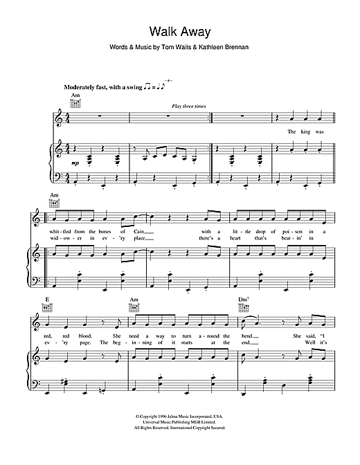 Walk Away Sheet Music