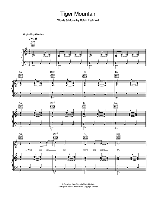 Tiger Mountain Peasant Song Sheet Music