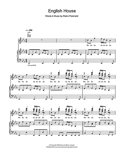 English House Sheet Music