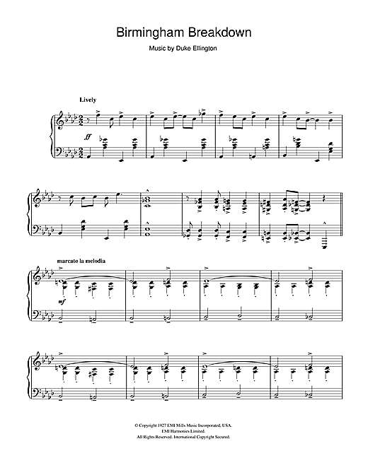 Birmingham Breakdown Sheet Music