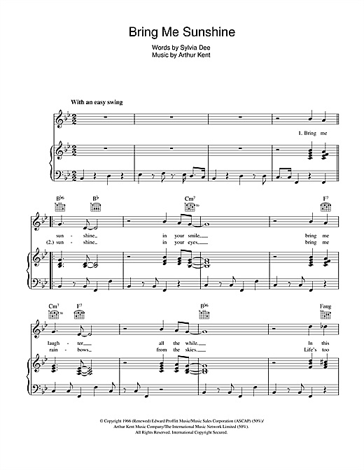 Bring Me Sunshine Sheet Music