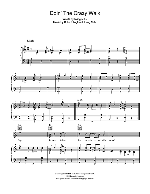 Doin' The Crazy Walk Sheet Music