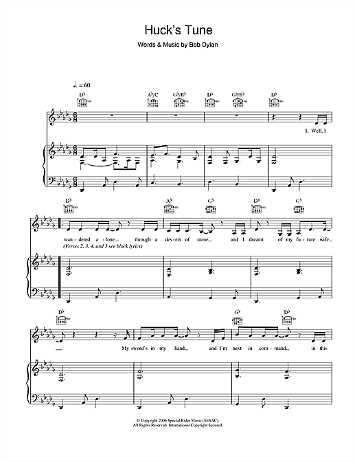 Huck's Tune Sheet Music