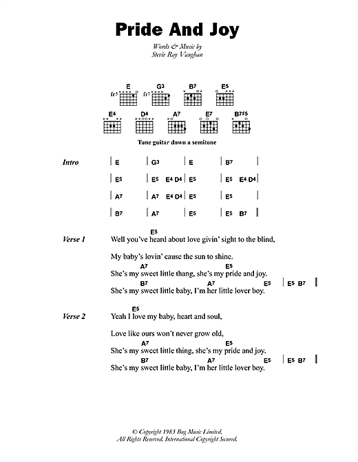 Pride And Joy Sheet Music
