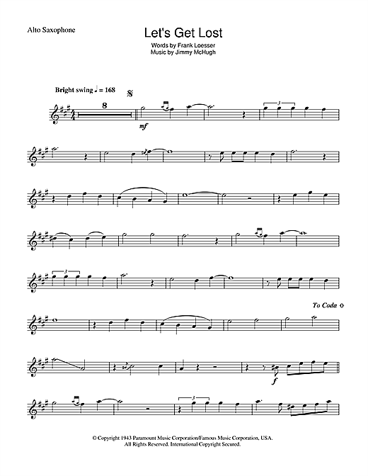 Let's Get Lost Sheet Music