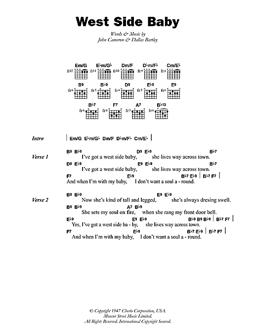 West Side Baby (Guitar Chords/Lyrics)