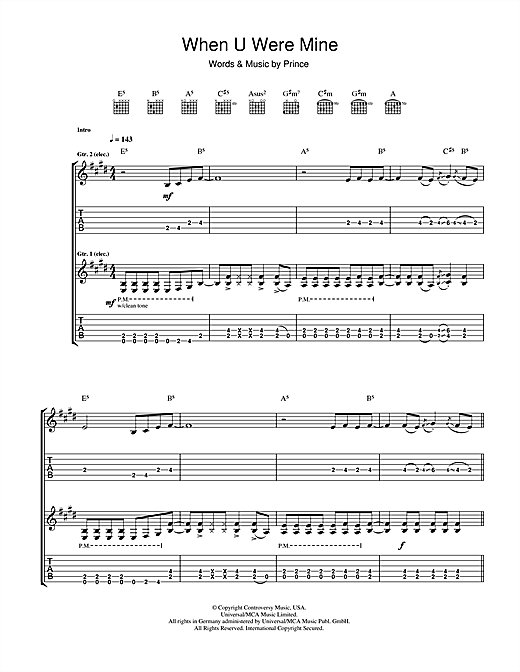 When U Were Mine Sheet Music