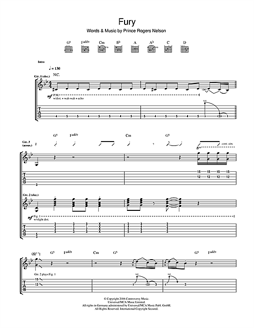 Fury Sheet Music
