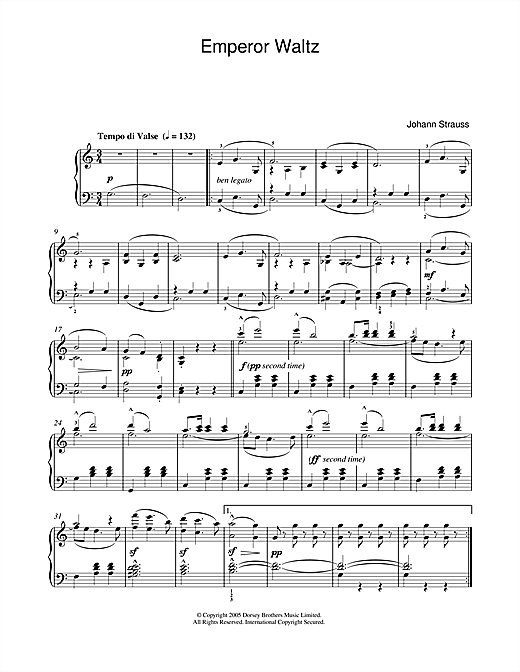 Emperor Waltz Sheet Music