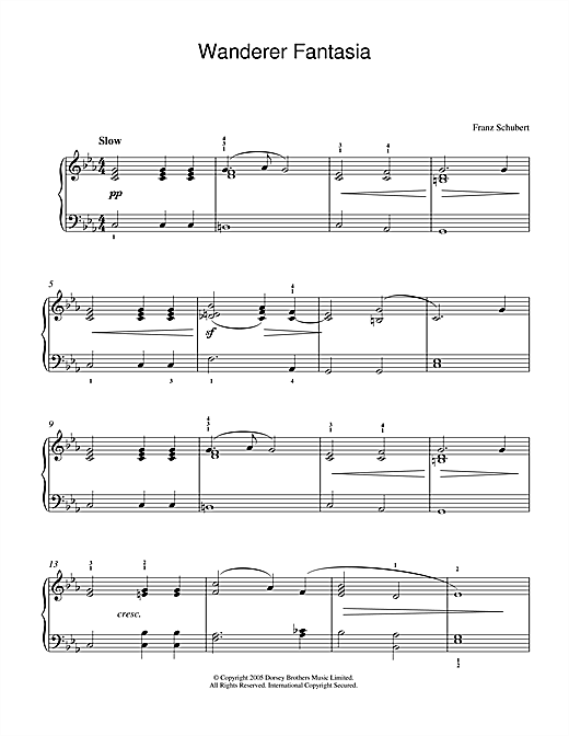 Wanderer Fantasia Sheet Music