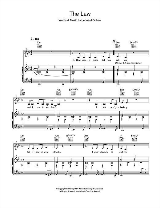 The Law Sheet Music