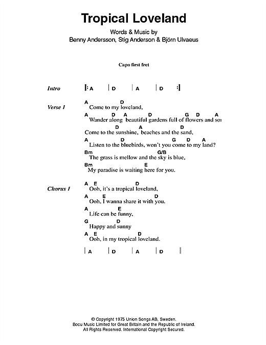 Tropical Loveland Sheet Music