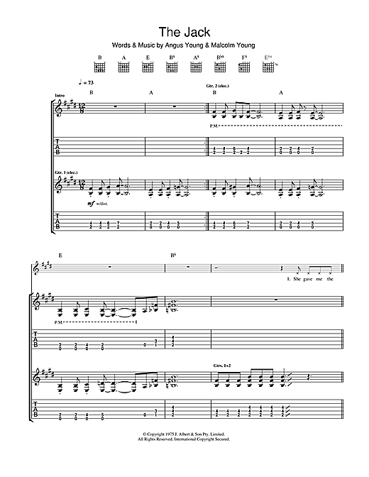 The Jack Sheet Music