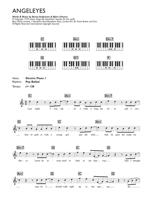 Angeleyes Sheet Music
