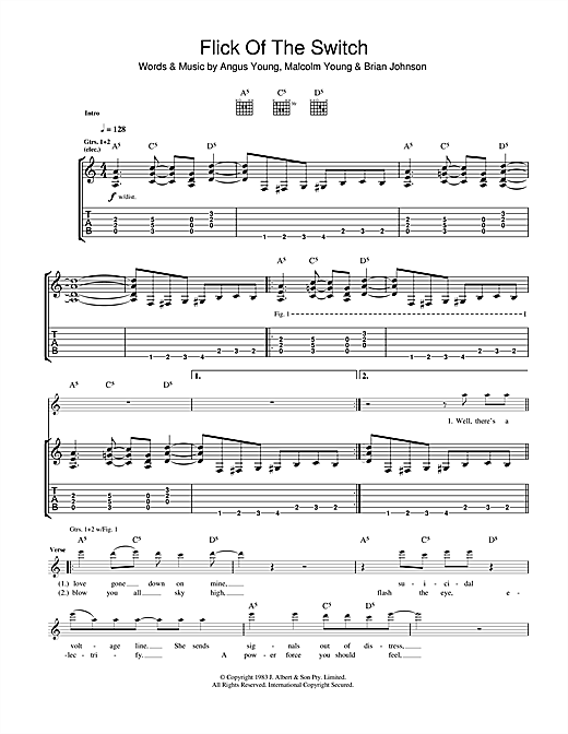Flick Of The Switch Sheet Music
