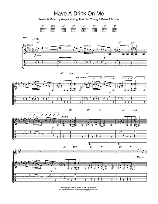Have A Drink On Me Sheet Music