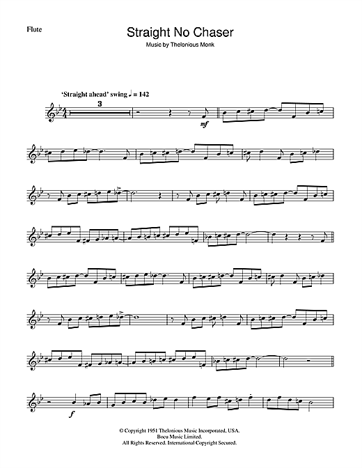 Straight No Chaser Sheet Music