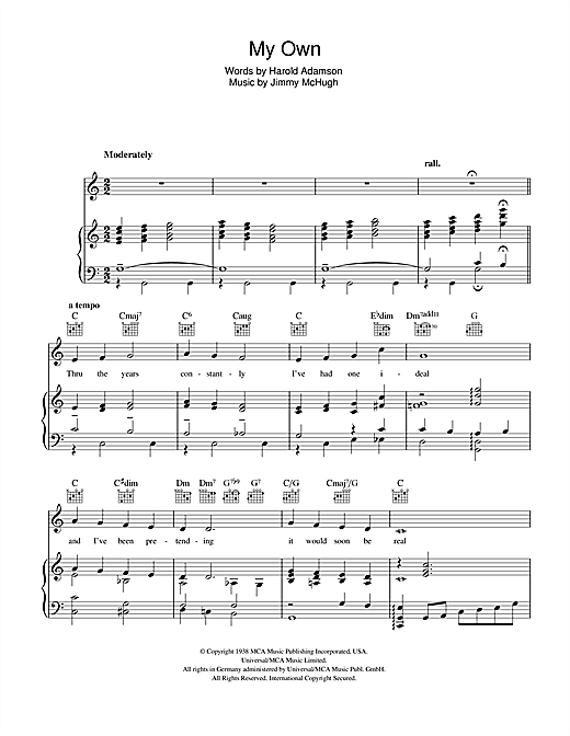My Own Sheet Music