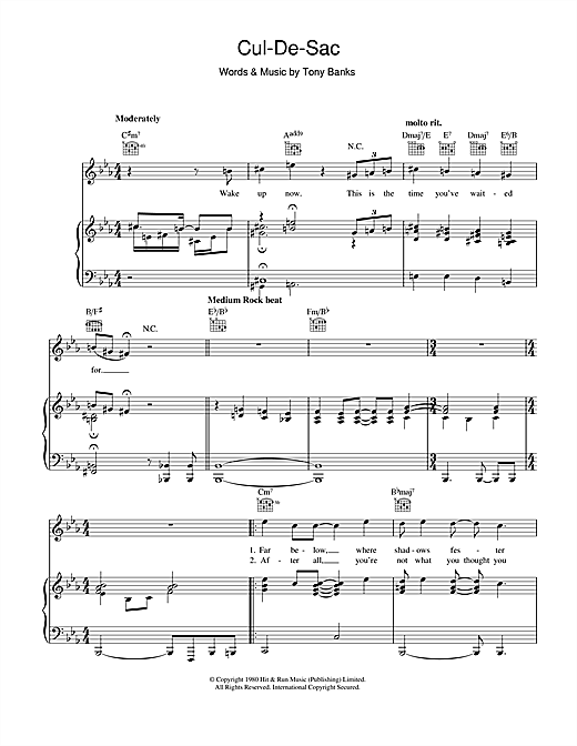 Cul-De-Sac Sheet Music