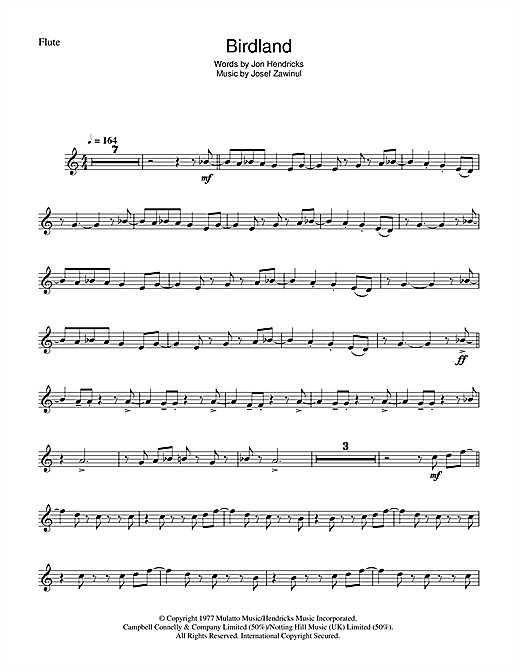 Birdland Sheet Music