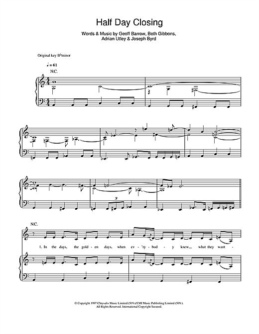 Half Day Closing Sheet Music