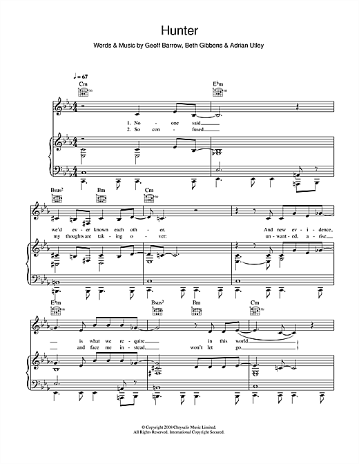 Hunter Sheet Music