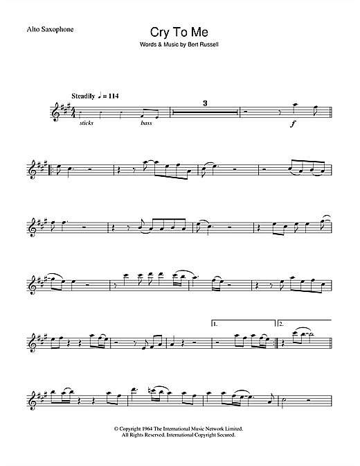 Cry To Me Sheet Music