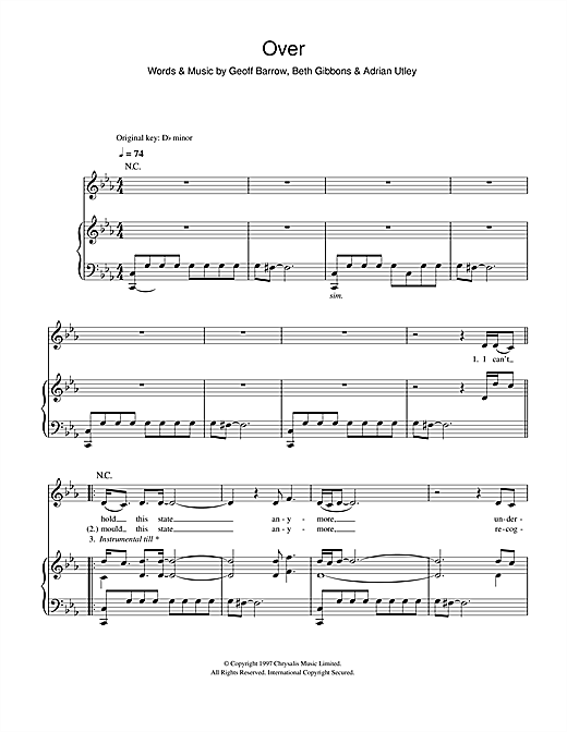 Over Sheet Music