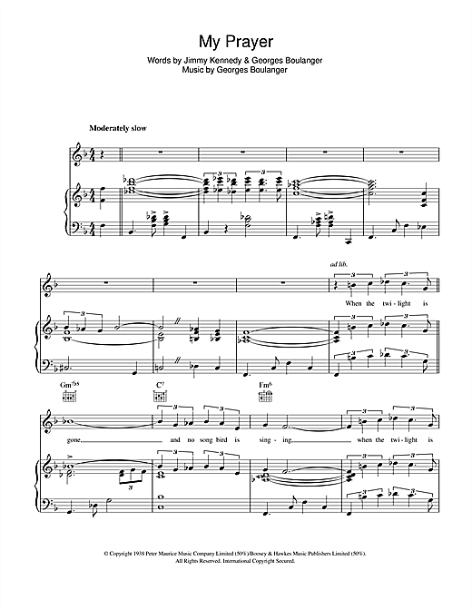 My Prayer Sheet Music