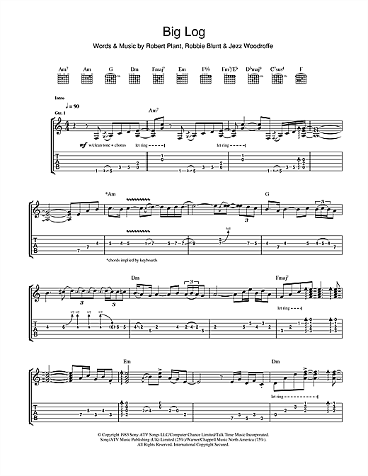 Big Log Sheet Music