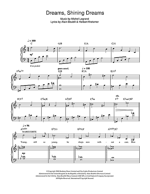 Dreams, Shining Dreams (from Marguerite) Sheet Music