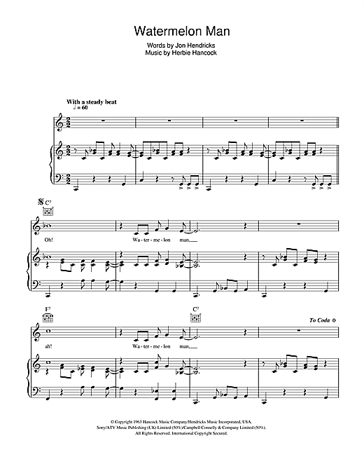 Watermelon Man Sheet Music