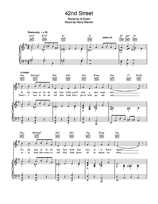 42nd Street Sheet Music