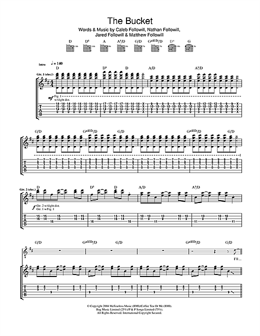 The Bucket (Guitar Tab)