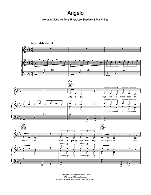 Angelo Sheet Music