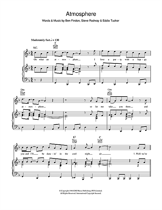 Atmosphere Sheet Music