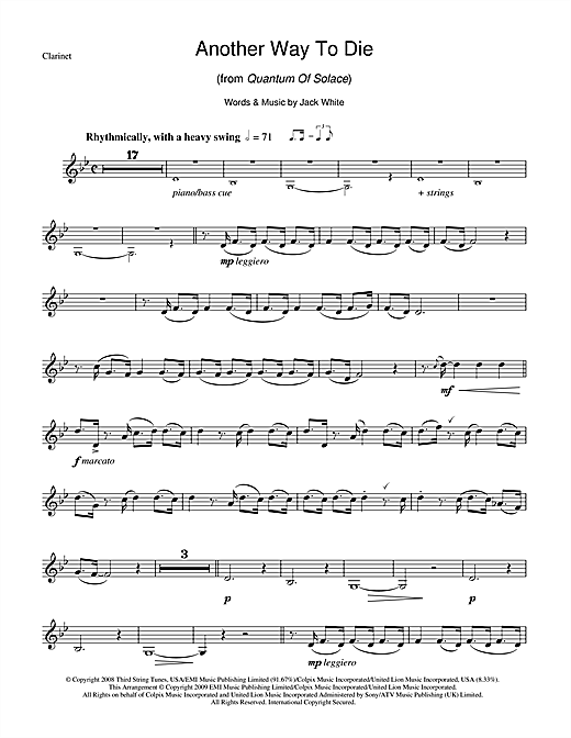 Another Way To Die Sheet Music
