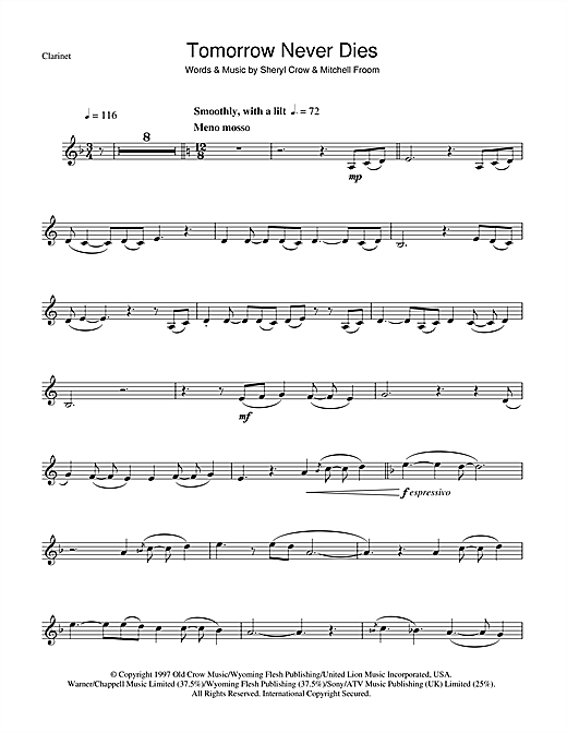 Tomorrow Never Dies Sheet Music