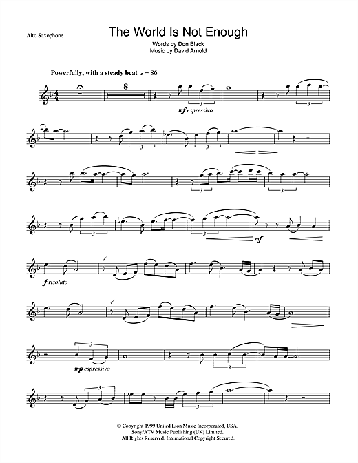 The World Is Not Enough Sheet Music