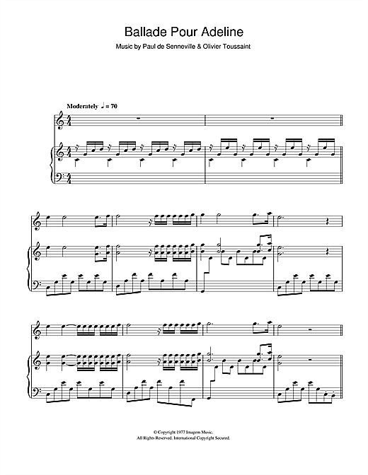 richard clayderman piano sheet pdf